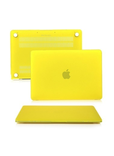 "Mcstorey MacBook Air A1465  A1370 11.6"" Kılıf Kapak Koruyucu Hard Incase Mat Sarı"